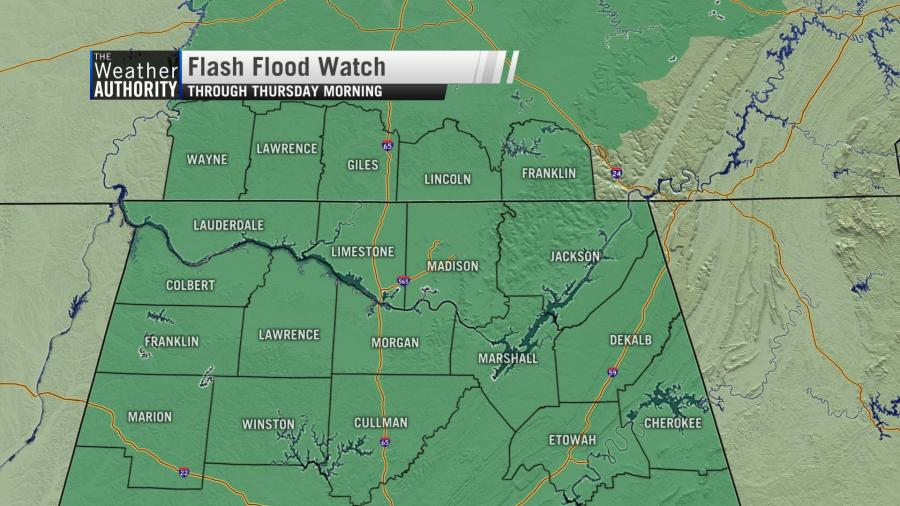 New Flash Flood Watch Until Thursday Morning