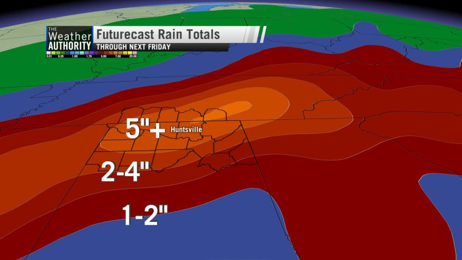 GFS Rainfall Forecast