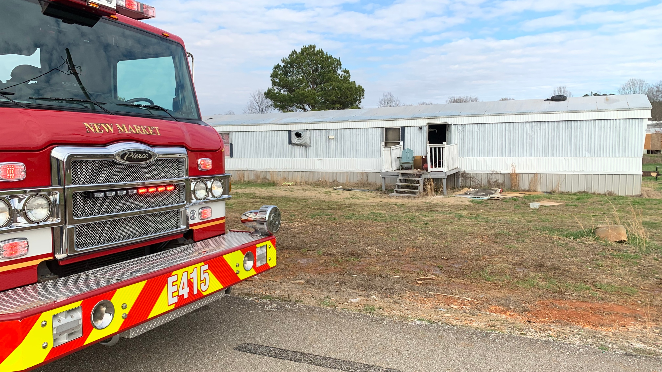 One person was injured after a house fire in New Market Sunday afternoon.