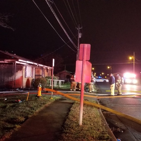 Huntsville Fire and Rescue crews responded to a house fire early Monday morning near Poplar Avenue and Pulaski Pike.