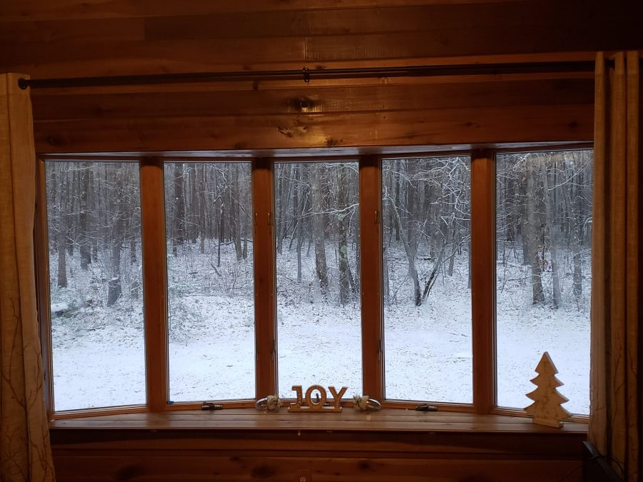 Brandy Rosson had a winter wonderland outside her bow window in Mentone.