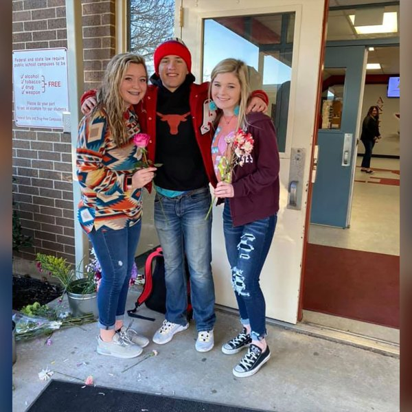 Jayme Wooley, a sophomore at Axtell High School near Waco, Texas, bought every girl in his school a flower for Valentine's Day.