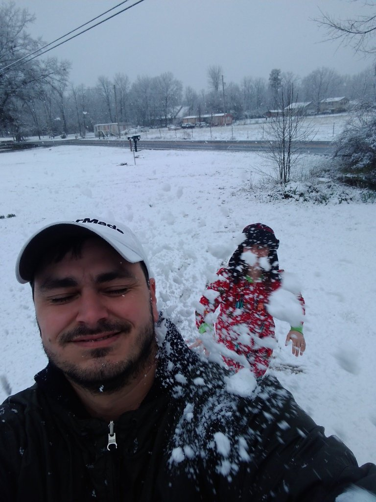 """Jared Farmer got """"blasted"""" with a snowball in Rainsville."""
