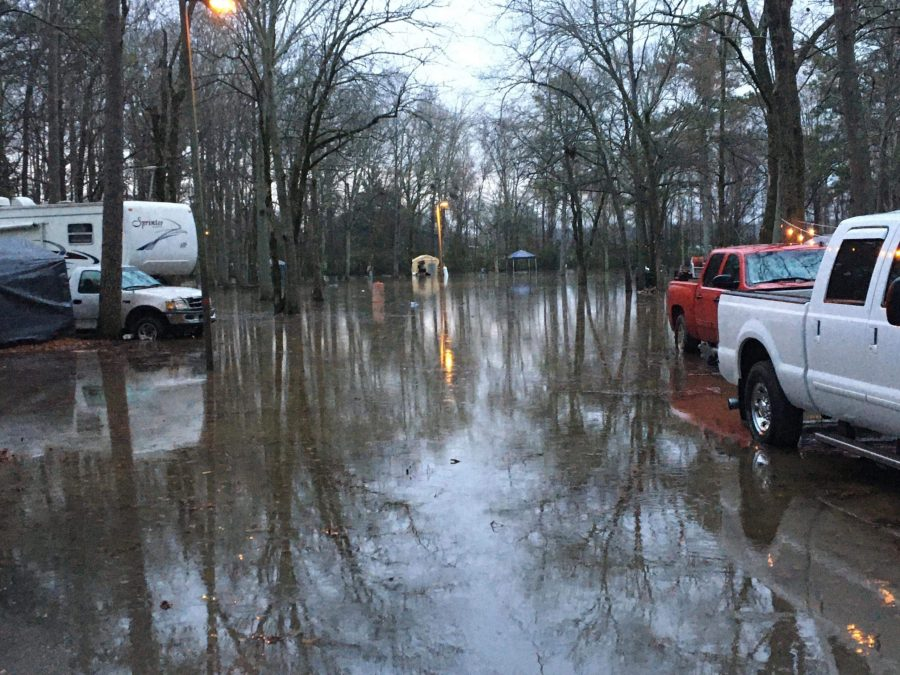 Flooding is causing some campers to be moved at the Point Mallard Campground.