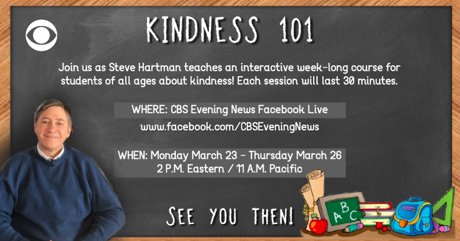 CBS News' Steve Hartman holding online classes next week for kids