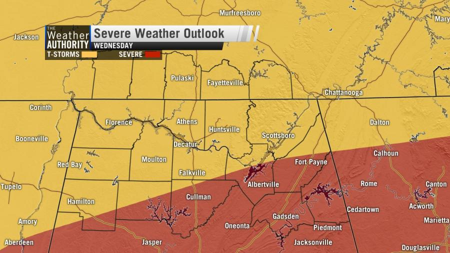 The Next System Arrives Wednesday – Severe Weather Unlikely