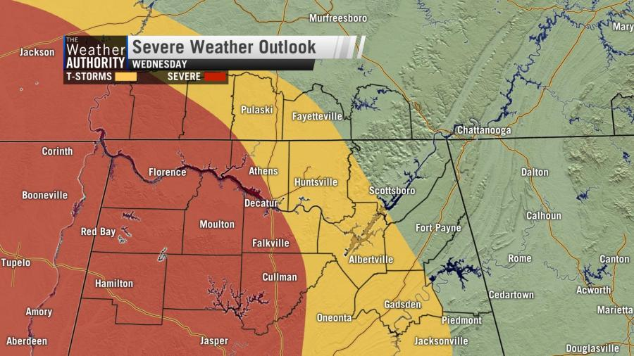 Next Chance Of Strong Storms – Late Wednesday Into Early Thursday
