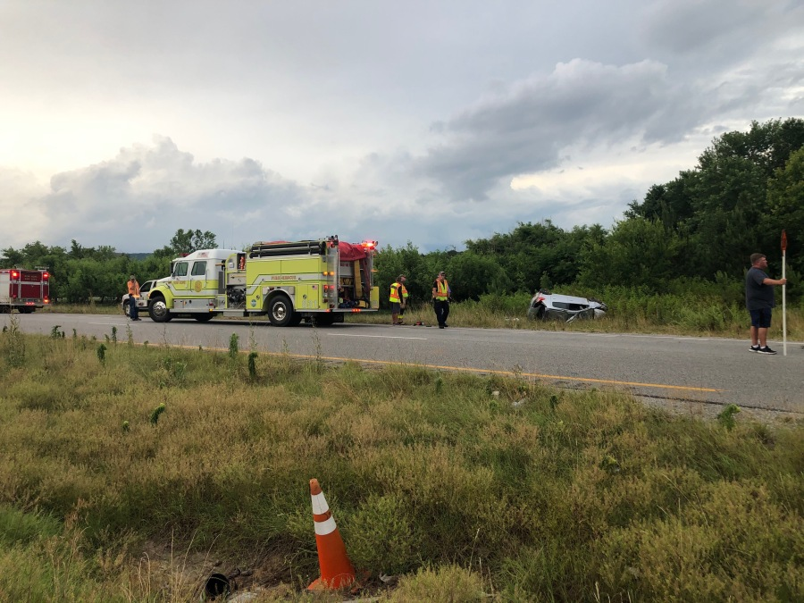 One dead, two children injured in wreck near Owens Cross Roads