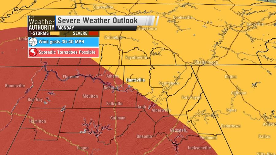 Severe weather possible Monday as Cristobal moves north