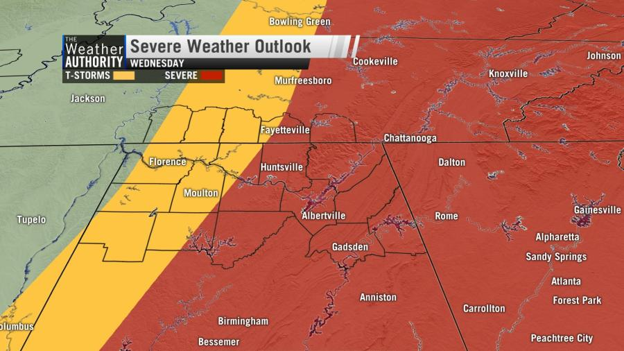 One more day of sticky air and heavy storms
