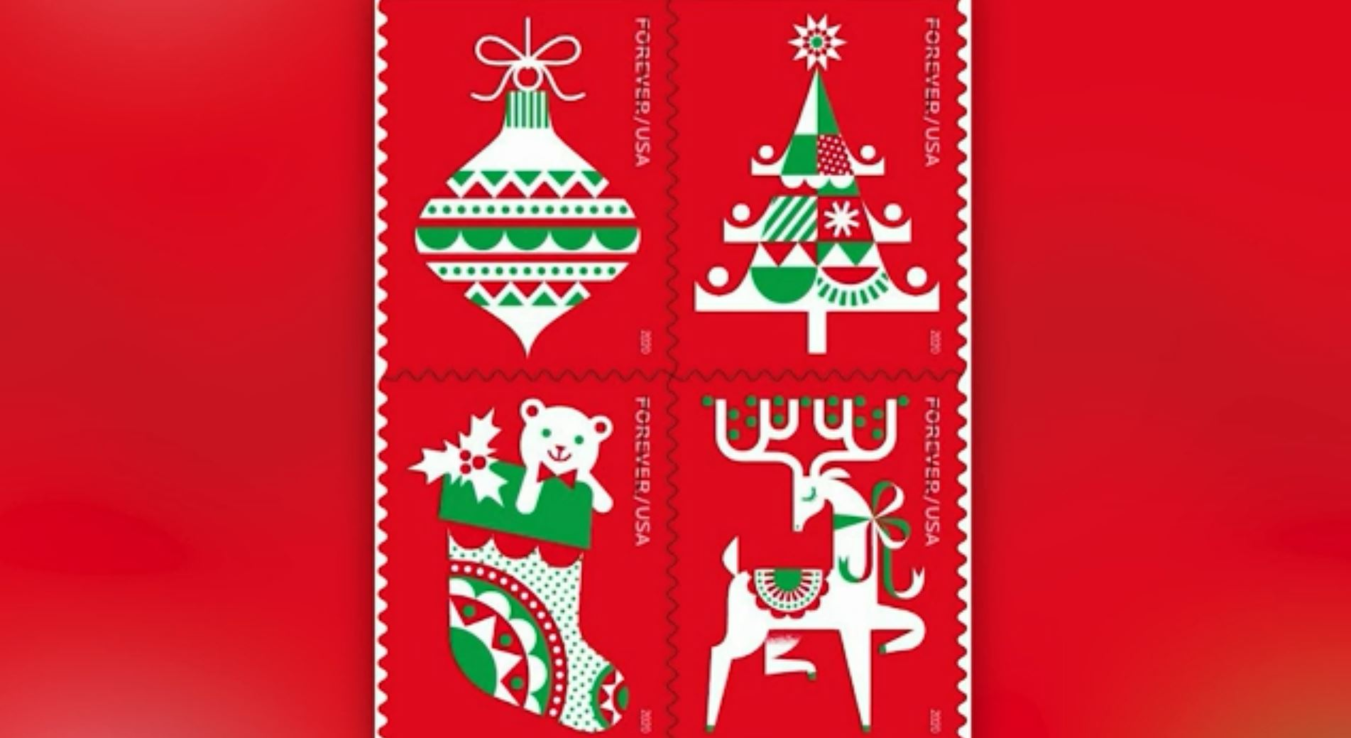 Christmas 2020 Stamps U.S. Postal Service unveiled five new forever stamps | WHNT.com