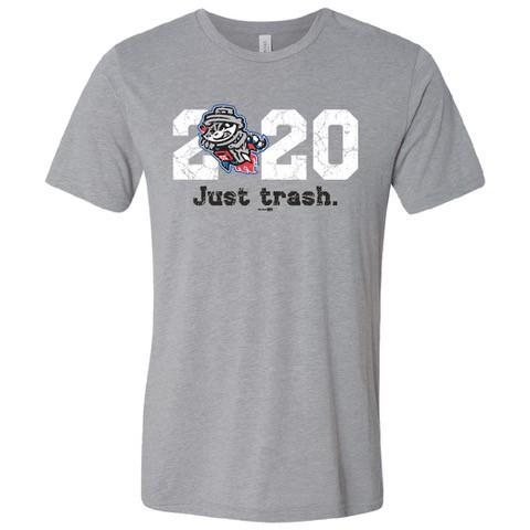 "Viral, best-selling Rocket City Trash Pandas t-shirt calls 2020 ""Just Trash"""