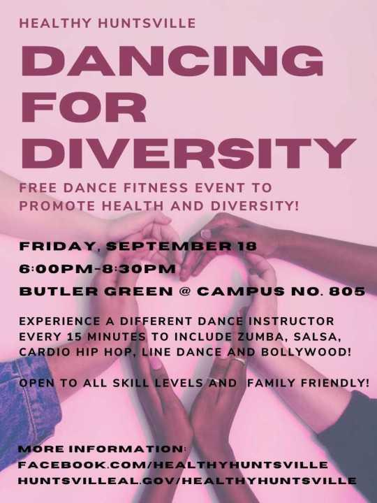 Dance for Diversity this Friday in Huntsville