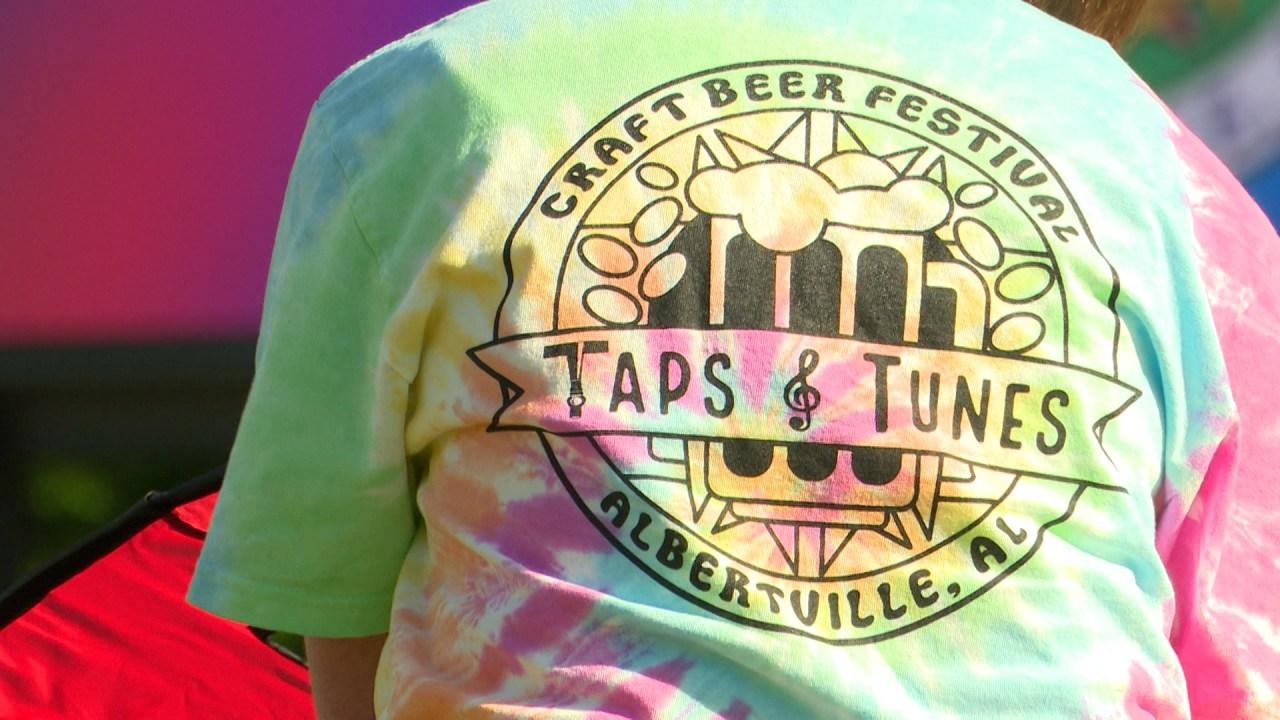 Hundreds attend Taps & Tunes craft beer festival in Albertville
