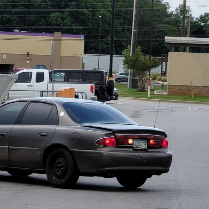 The Madison County Sheriff's Office said an unknown thief was driving a dark gray Buick sedan with black rims and an Arizona license plate ending in 4159.