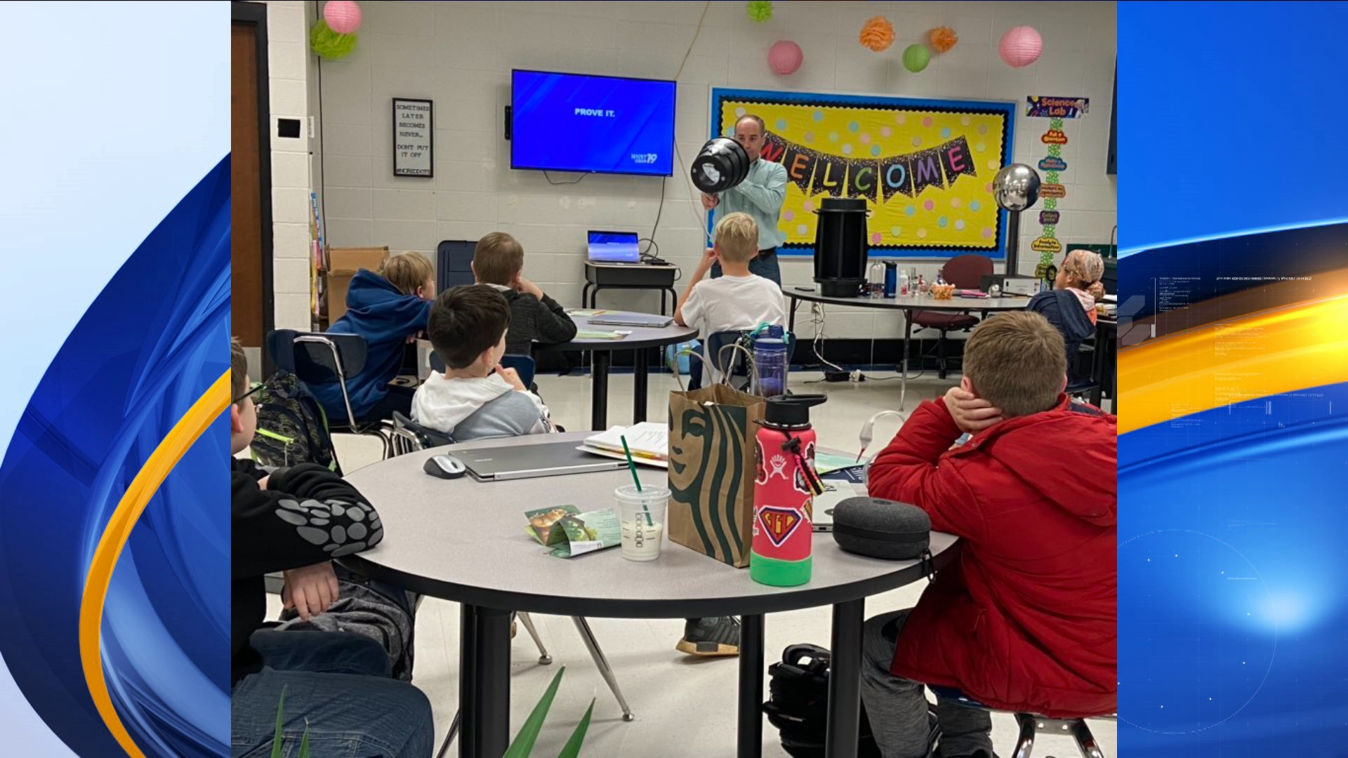 News 19 Chief Meteorologist Jason Simpson visited the students at Madison Virtual Academy in March 2020.