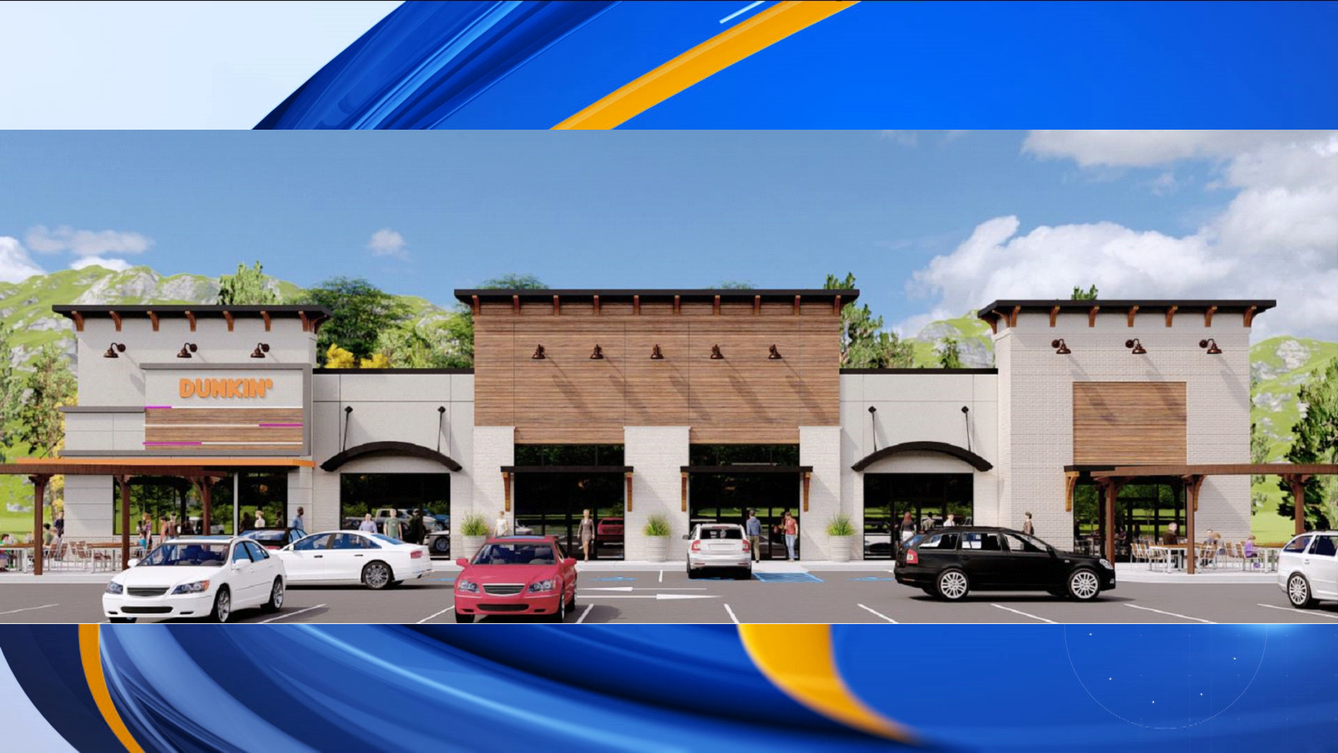 In addition to the Dunkin', the 10,000 square-foot shopping center will also be home to a Champs Cuts hair salon, an Asian Express restaurant, and a national physical therapy practice.