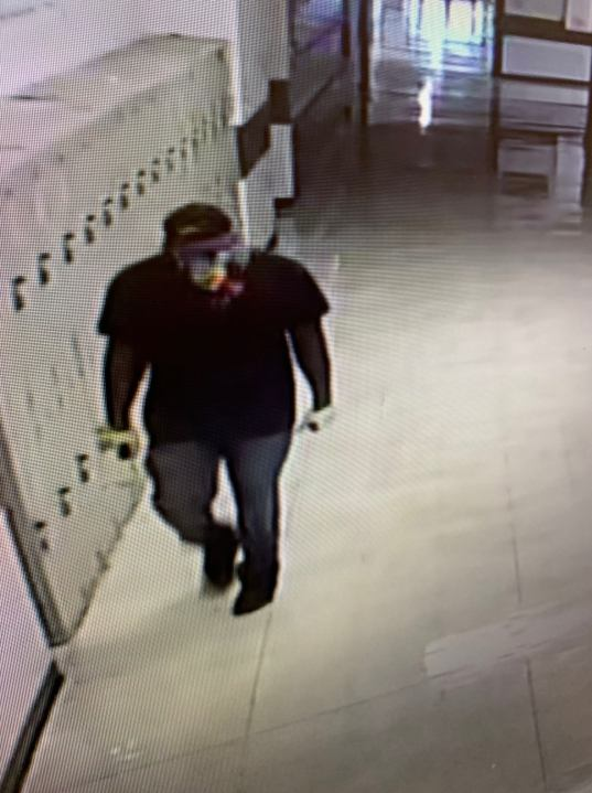 The Limestone County Sheriff's Office is searching for a man who broke into Tanner High School over the weekend.