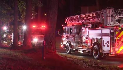 Huntsville apartment fire on Julia Street
