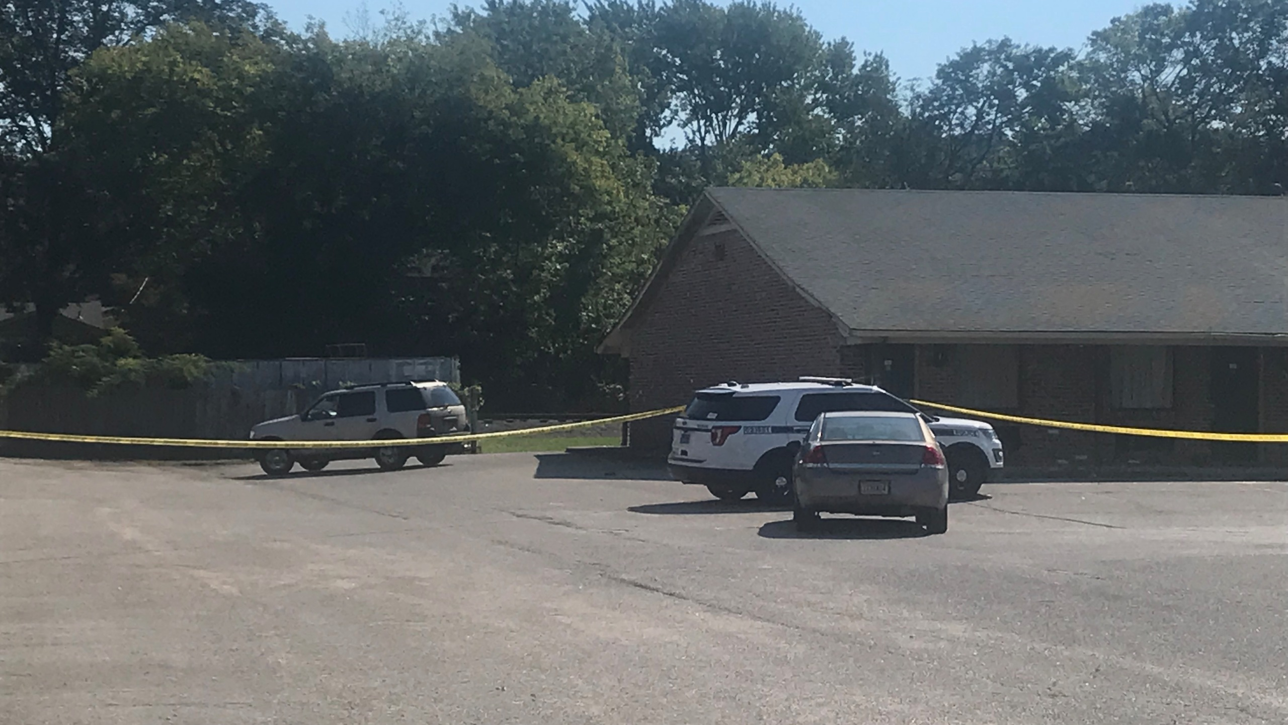 Authorities said officers were called to the King's Inn along South Memorial Parkway around 9:15 a.m. Tuesday.