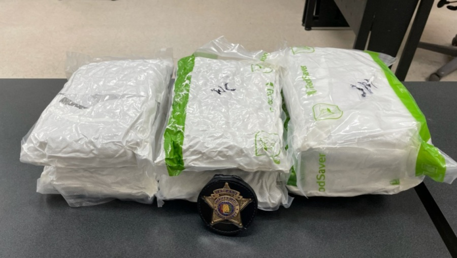 The Morgan County Drug Enforcement Unit said seven pounds of marijuana were found in a vehicle.