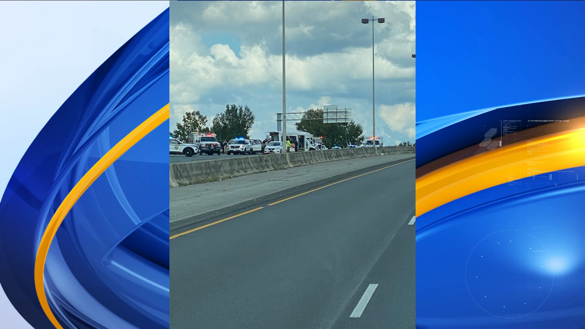 Three people have been injured in a wreck on WB I-565 near Madison Blvd. ALL westbound traffic is shut down at Research Park.