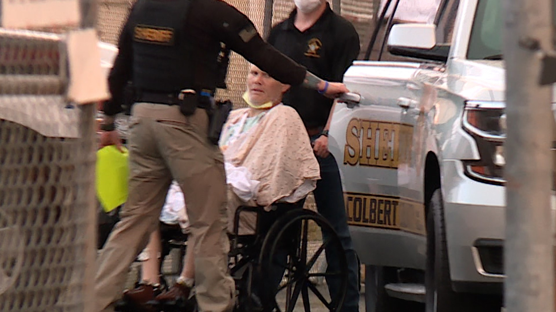 Brian Lansing Martin was released from the hospital and taken to jail in Colbert County